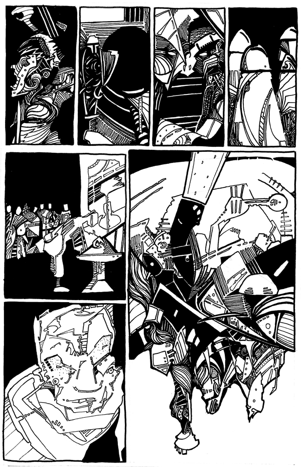 14 - Based on a page from Judge Dredd: Block Mania by john Wagner and Mike McMahon